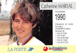 Cyclisme - Catherine MARSAL Né à Metz - Philatélie Cachet + Timbre - Cyclisme