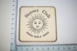Sunset Club General Yagüe, 8 Soleil Madrid - Beer Mats