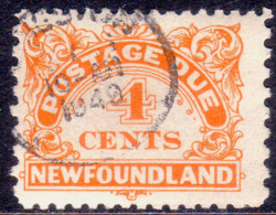 1948 NEWFOUNDLAND SG #D4a 4c Postage Due Used CV £70.00 Perf.11x9 - Newfoundland