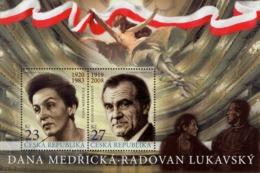 Czech Republic - 2019 - Czech Actresses And Actors - Dana Medricka And Radovan Lukavsky - Mint Souvenir Sheet - Tschechische Republik
