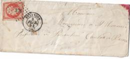 Enveloppe    Besançon Pour ? Cachet DELLE Suisse  1854 - Poststempel (Briefe)