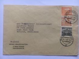 GERMANY 1952 Cover Sent To Enfield England - `Heinz Kraschutzki` - [5] Berlin