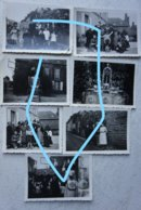 Photox7 LARCHAMP Fougère Ernée Juillet-Août 1940 Réfugiés Belges Exode Guerre France - Oorlog, Militair