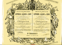 Compagnie Des CHEMINS De FER Des ASTURIES, GALICE Et LÉON; Obligation - Railway & Tramway