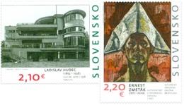 Slovakia - 2019 - Art On Stamps - Ladislav Hudec And Ernest Zmeták - Mint Stamp Set - Slovakia