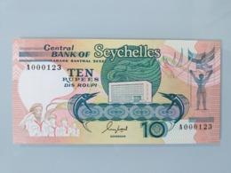 SEYCHELLES-10 RUPEES 1989.UNC.NEUF(NUMBER A000123) - Seychelles