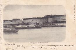 Linz * Ladungsplatz, Dampfer, Schiffe * Österreich * AK1532 - Linz