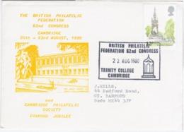 England Great Britain UK United Kingdom 1980 British Philatelic Federation, Cambridge Philatelic Society Diamond Jubilee - Other