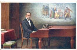 Czechoslovakia Used Postcard With Smetana From 1913 - Chanteurs & Musiciens