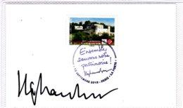 F 2019, Château De Bouteville, Nouvelle Aquitaine, Sur Bristol, Obl 1er Jour 12/09/19, Dédicace Stéphane Bern Patrimoine - Castelli