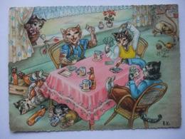 N23 Ansichtkaart Kattenfamilie - Chats