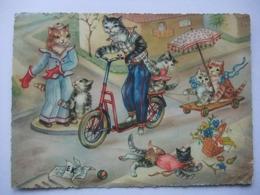 N23 Ansichtkaart Kattenfamilie (3) - Katten