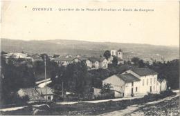 CPA Oyonnax Quartier De La Route D'Echalion Et Ecole De Garçons - Oyonnax