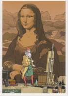 LEONARD DE VINCI - Les Grands Peintres - PATRICK WEBER & OLIVIER PAQUES, GLENAT, BEAUX-ARTS - CPM TBon Etat - Bandes Dessinées