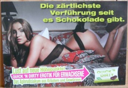 PIN UP FLYER EROTIQUE ALLEMAND QUICK 'N DIRTY MAN UND WOMAN - Pin-Ups