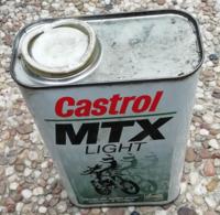 CASTROL MTX Light 1 Litre Bidon D'huile Ancien En Tole Pour Collection - Voitures