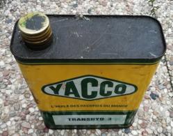 YACCO Transhid 3   Bidon D'huile Ancien En Tole Pour Collection - Voitures
