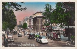 Automobiles  Sur Le Grand Boulevards Porte St Martin Et St Denis à Paris - Buses & Coaches