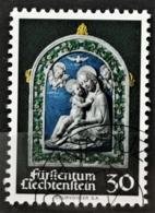 1971 Weihnachtsmarke ET-Stempel MiNr: 555 - Liechtenstein