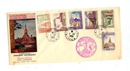 Lettre Fdc 1959 Monument Historique - Laos
