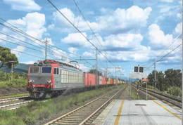 325 E 652 ABB Calenzano Firenze Toscana Railroad Trein Railweys Treni - Gares - Avec Trains
