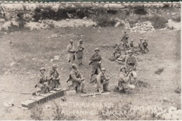 Groupe De Militaires Au Tir Au Brand Au Camp Du Larzac  En 1934 - Carte Photo - Manoeuvres