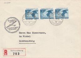 Liechtenstein Lettre Recommandée Aviation Triesenberg 1946 - Briefe U. Dokumente