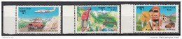 BHUTAN 1992 30th Anniversary Postal Services, Set 3v, Aeroplane, Bridge, Post Box, Mail,  Complete MNH(**) - Bhutan