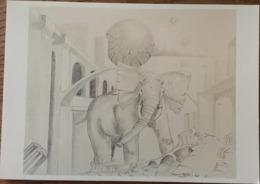 CPM, Illustrateur Jacques Teulet, ELEPHANT, éd PTT Cartopilie 1995-4,non écrite - Autres Illustrateurs