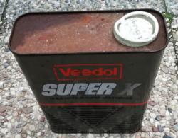 VEEDOL SUPER X Bidon D'huile Ancien En Tole Pour Collection - Voitures