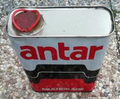 ANTAR Multigrade Bidon D'huile Ancien En Tole Pour Collection - Voitures