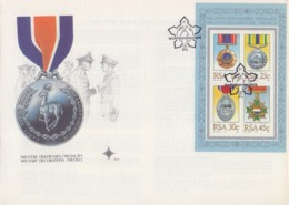Rep. Of SOUTH AFRICA :1984: Y.BF16 On FDC : ## MILITARY DECORATIONS / MEDALS ## [size : 229x163 Mm] - FDC