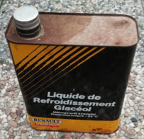 RENAULT Liquide De Refroidissement   Bidon D'huile Ancien En Tole Pour Collection - Voitures