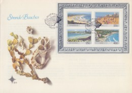 Rep. Of SOUTH AFRICA :1983: Y.BF15 On FDC : ## STRANDE - BEACHES ## PLETTENBURG BAY,DURBAN,WEST COAST,CLIFTON, - FDC