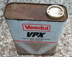 VEEDOL VPX  Bidon D'huile Ancien En Tole Pour Collection - Voitures