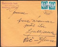 Yugoslavia Slovenia Brezice 1935 / Sent To Ljubljana, Vič / 0.75 D / King Petar II / Šekoranja Ivan, Bizeljsko - 1931-1941 Reino De Yugoslavia