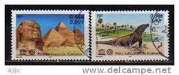 UNESCO. Yv. #  124/5  Oblitérés  (Pyramide De Guizeh Egypte & île De Komodo Indonesie ) - Used