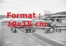 Reproduction D'une Photographie Ancienne D'une Vue De L'aéroportZurich-Kolten De La Compagnie Swissairen 1952 - Riproduzioni