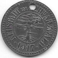 *notgeld   Neustadt Im Schwarzwald 10 Pfennig 1917 2 Mm Gelocht   Zn  376.3a - Andere