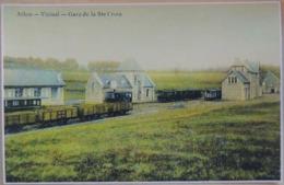 Arlon Vicinal Gare De La Ste-Croix Avec Trains (Reproduction - Photo) - Arlon