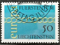 1971 Europamarke ET-Stempel MiNr: 545 - Liechtenstein