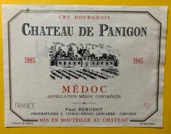 11993 - Château De Panigon 1985 Médoc - Bordeaux