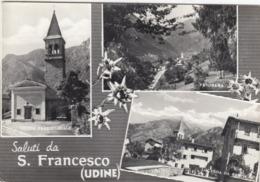 SAN FRANCESCO-UDINE-SALUTI DA..MULTIVEDUTE-BELLA CARTOLINA VERA FOTOGRAFIA- VIAGGIATA  1955-1960 - Udine