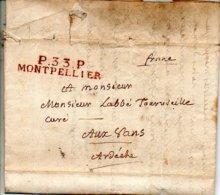 H981 LAC Herault Montpellier PP 1819   Belle Frappe - 1801-1848: Precursors XIX