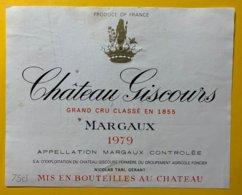 11996 - Château Giscours 1979  Margaux - Bordeaux