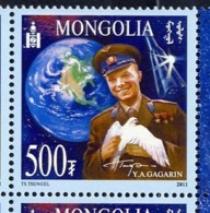 MONGOLIA 2011 3771 50th Anniversary Of The First Human Spaceflight. Yuri Gagarin - Famous People