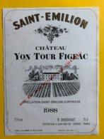 11998 - Château Yon Tour Fgeac 1988 Saint Emilion - Bordeaux