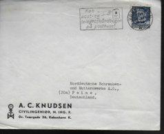 DANEMARK Lettre Poste Telegraphe - Post