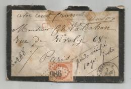 JURA - CHAUSSIN - GC.986 S/TP Napoleon III N°23 - CHARGE - Càd T.15 -  1866 - 1862 Napoleon III