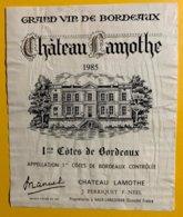 12001  - Château Lamothe 1985 - Bordeaux